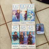 Disney Toys | Disneys Frozen Ii Puzzle Collection 7 Puzzles | Color: Blue/White | Size: One Size