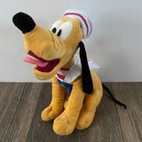 Disney Toys | Disney Cruise Lines Sailor Pluto Plush Stuffed Toy | Color: Gold/Yellow | Size: 9