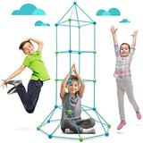 Hamiltion 4' x 0.83' Indoor/Outdoor Polyester Play Tent w/ Carrying Bag Polyester in Blue/Green, Size 70.0 H x 10.0 W x 50.0 D in   Wayfair