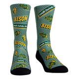 Rock 'Em Socks Socks - North Dakota State Bison Green & Yellow Logo Statement Socks - Kids & Adult