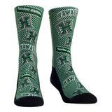 Rock Em Apparel Socks - Hawaii Rainbow Warriors Green Logo Statement Socks - Kids & Adult