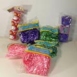 Disney Party Supplies | 5 Packs Easter Basket Grass & 2 Packs Figural Eggs | Color: Green/Pink/Purple | Size: Os