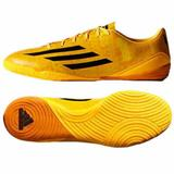 Adidas Shoes   Adidas Kids Messi F10 In Indoor Soccer Shoes   Color: Black/Gold   Size: 13b