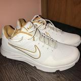 Nike Shoes   Nike Womens Alpha Hurache Elite 2   Color: Gold/White   Size: 9.5