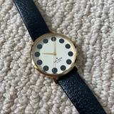 Kate Spade Accessories   Kate Spade Polka Dot Gold Watch Black Leather Band   Color: Black/Gold   Size: Os