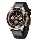 Pagani Design Men's Watches Rubber Bracelet Analogue Quartz Wrist Watch for Men Daytona Homage Luxury Waterproof Dress Wristwatch Auto Date