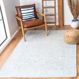 Safavieh Roslyn Geometric Handmade Tufted Wool Light Blue/Ivory Area Rug Wool in White, Size 36.0 W x 0.28 D in | Wayfair ROS353M-3