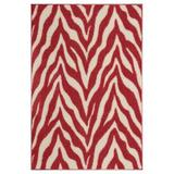 East Urban Home Lory Animal Print Beige/Red Area Rug in Brown/Red, Size 132.0 H x 84.0 W x 0.5 D in   Wayfair 66AE0BD293BF4385A4D510D144E504D3