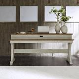 """August Grove® Buenrostro 76"""" Console Table Wood in Brown/White, Size 36.0 H x 76.0 W x 22.0 D in 