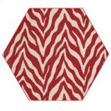 East Urban Home Lory Animal Print Beige/Red Area Rug in Brown/Red, Size 84.0 H x 84.0 W x 0.5 D in   Wayfair 91F74F3B13DA48EEBD496A514FCF66D5