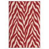 East Urban Home Lory Animal Print Beige/Red Area Rug in Brown/Red, Size 108.0 H x 72.0 W x 0.5 D in   Wayfair B4E33A9529954DD1ABB7BA1A069249F6