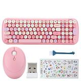 100 Key 2.4G Keyboard Mouse Set,Universal USB Wireless Computer Keyboard and Mouse Combo,for Laptop Tablet Desktop Computer,Compatible for Win XP/ Win7 / Win8 / Win10(100 Key)