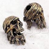 CooB EDC Paracord Bead Beads, Beard Bead, Charm, Knife Lanyard. Metal Hand-Casted Beads Charms for Paracord Bracelet, Knife Lanyard Pirate Blackbeard Skull 1pcs/Lot (Pirate Skull)