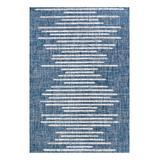JONATHAN Y Indoor Rugs Blue/Ivory - Blue & Ivory Stripe Zolak Indoor/Outdoor Area Rug