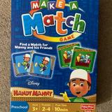 Disney Toys | Handy Manny Make A Match Matching Card Game | Color: Blue | Size: Osb