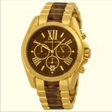 Michael Kors Accessories | Michael Kors Bradshaw Tortoise Chronograph Watch | Color: Brown/Gold | Size: Os