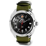 VOSTOK   Komandirskie 211306 Tank Commander Russian Military Mechanical Wrist Watch   WR 20 m   Fashion   Business   Casual Men's Watches   Green Strap B