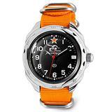 VOSTOK   Komandirskie 211306 Tank Commander Russian Military Mechanical Wrist Watch   WR 20 m   Fashion   Business   Casual Men's Watches   Orange Strap B