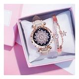Ladies Fashion Leather Casual Watch Luxury Analog Quartz Crystal Watch Fashion Casual Ladies Watch (Color : Beige)