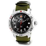 VOSTOK   Komandirskie 811306 Tank Commander Russian Military Mechanical Wrist Watch   WR 20 m   Fashion   Business   Casual Men's Watches   Green Strap B
