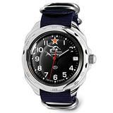 VOSTOK   Komandirskie 211306 Tank Commander Russian Military Mechanical Wrist Watch   WR 20 m   Fashion   Business   Casual Men's Watches   Blue Strap B
