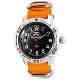 VOSTOK   Komandirskie 811306 Tank Commander Russian Military Mechanical Wrist Watch   WR 20 m   Fashion   Business   Casual Men's Watches   Orange Strap B
