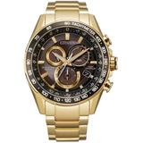 Chronograph Pcat Gold-tone Stainless Steel Bracelet Watch 43mm - Metallic - Citizen Watches