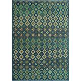 Noori Rug Hand-Woven Sangat Kilim Nooman Blue/Beige Rug, 6'7 x 9'8