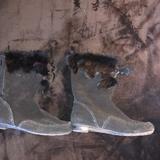 Nine West Shoes | Black Nine West Moccasin Fur Top Flat Boot. | Color: Black | Size: 9
