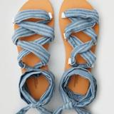 American Eagle Outfitters Shoes   Lace-Up Sandals   Color: Blue/Brown   Size: 8