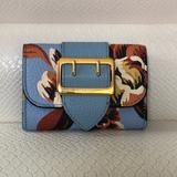 Burberry Bags | Burberry Chesham Buckle Card Case Leather Wallet | Color: Blue | Size: Os