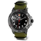 VOSTOK   Komandirskie 436306 Tank Commander Russian Military Mechanical Wrist Watch   WR 20 m   Fashion   Business   Casual Men's Watches   Green Strap B