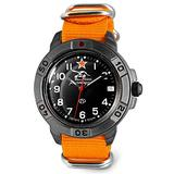 VOSTOK   Komandirskie 436306 Tank Commander Russian Military Mechanical Wrist Watch   WR 20 m   Fashion   Business   Casual Men's Watches   Orange Strap B