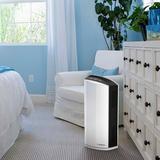 Lasko Tabletop Air Purifier w/ HEPA Filter in Gray/White, Size 21.64 H x 10.31 W x 7.33 D in | Wayfair LP300