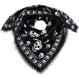 All-over Skull Logo Scarf - Black - Alexander McQueen Scarves