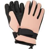 Leather-paneled Tech-twill Ski Gloves - Pink - 3 MONCLER GRENOBLE Gloves