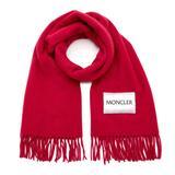 Fringed Wool Scarf - Pink - Moncler Scarves