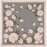 Gancini And Peonies Print Square Silk Scarf - Pink - Ferragamo Scarves