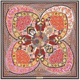 Monile Print Silk Foulard - Pink - Ferragamo Scarves