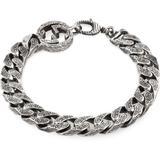Interlocking G Chain Bracelet In Silver - Metallic - Gucci Bracelets