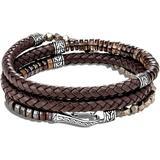 Men's Classic Chain Beaded Leather Wrap Bracelet, Brown - Brown - John Hardy Bracelets