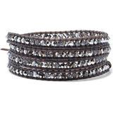 Silver-tone, Leather And Crystal Wrap Bracelet - Brown - Chan Luu Bracelets