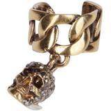 Skull Ear Cuff - Metallic - Alexander McQueen Earrings