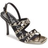 Miu Strappy Sandal - Black - Calvin Klein Heels