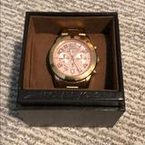 Michael Kors Accessories   Michael Kors Rose Gold Oversized Womens Watch   Color: Gold   Size: Os