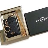 Coach Accessories | Coach Glitter Black Id And Keychain Box Set | Color: Black | Size: Os