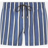Short Swim Trunks With Striped Print - Blue - Dolce & Gabbana Beachwear