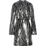 Lou Long Sleeve Sequin Minidress - Metallic - Ted Baker Dresses