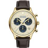 'heritage' Chronograph Leather Strap Watch - Natural - Movado Watches