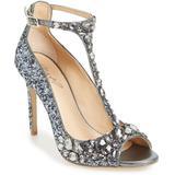 Conroy Embellished T-strap Pump - Metallic - Badgley Mischka Heels